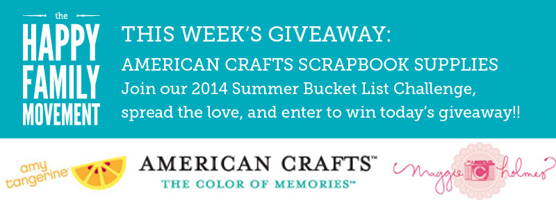 summer bucket list giveaway american crafts