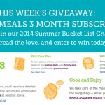 2014 Summer Bucket List Challenge Giveaway – Week 4