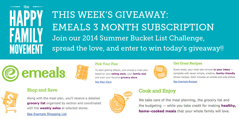 summer bucket list giveaway emeals