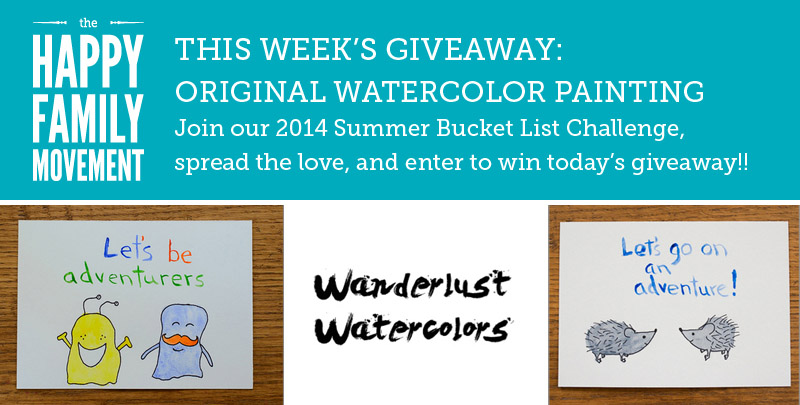 summer bucket list giveaway wanderlust watercolors