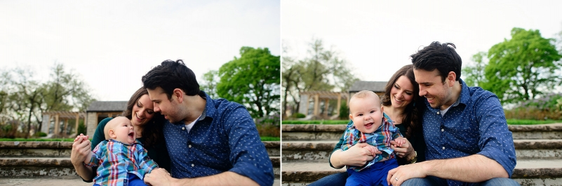Cute family pictures at Loose Park in Kansas City.