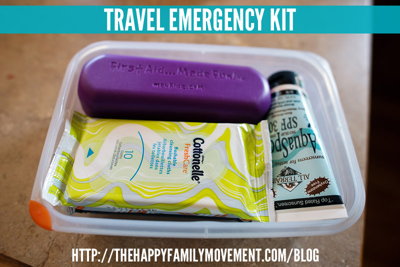 travel emergency kit for families