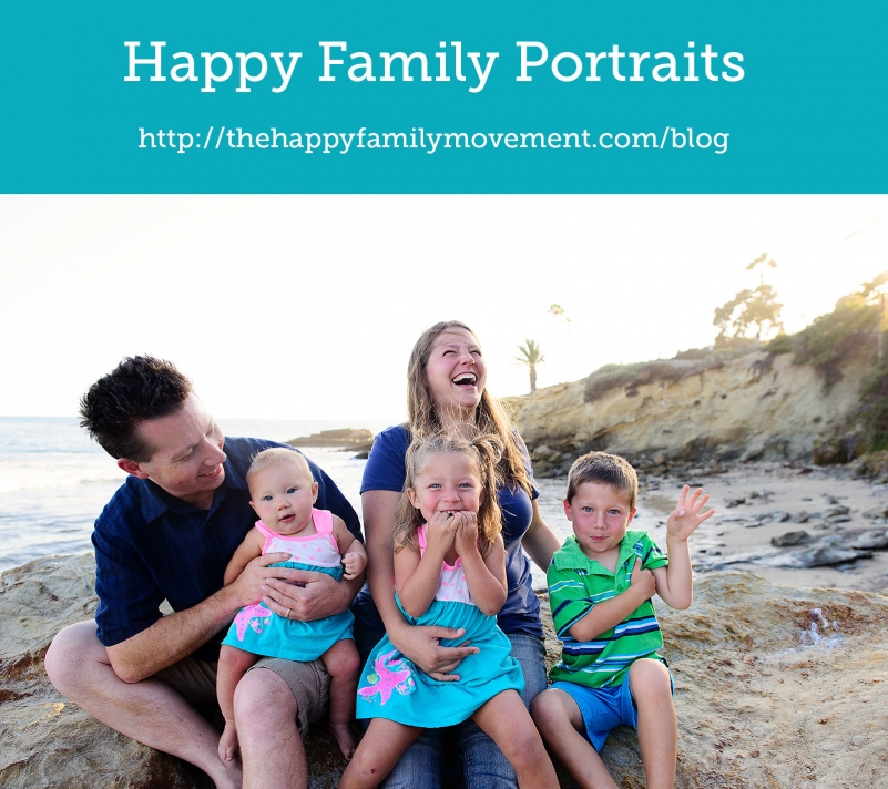 Happy Family Portraits in Laguna Beach, California.