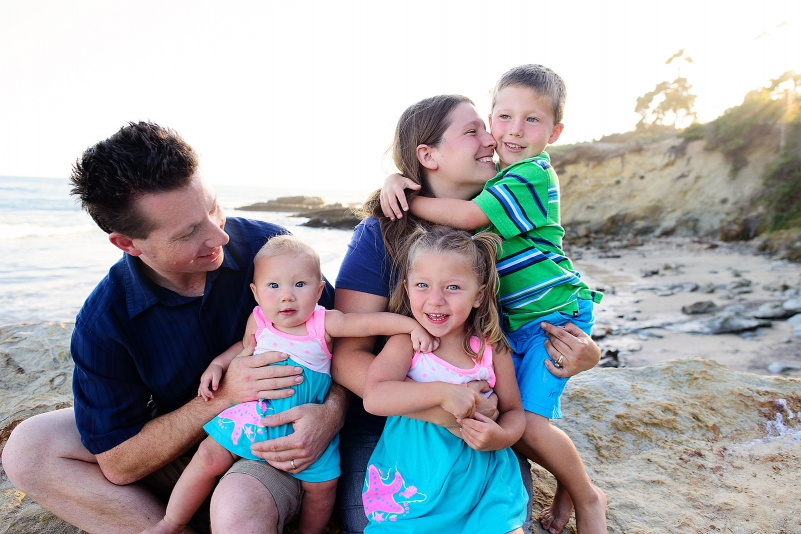 cute family photos in laguna beach, california.