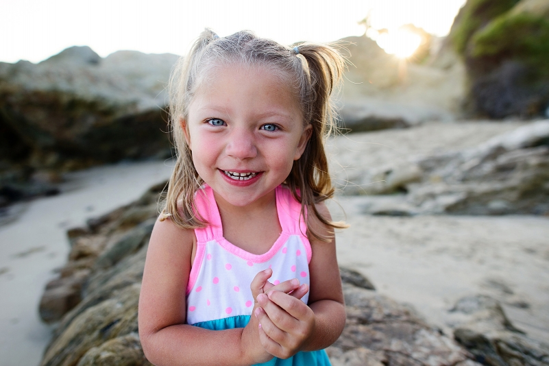 cute 3 year old portrait on laguna beach.