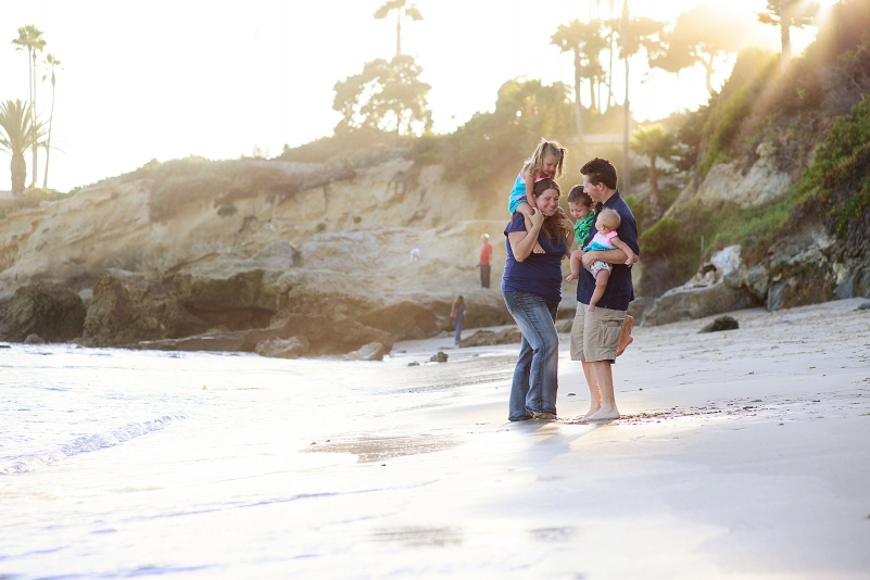 Family pictures in laguna beach, california.