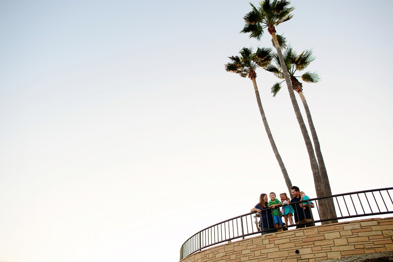 Fun family portraits in Laguna Beach, California.